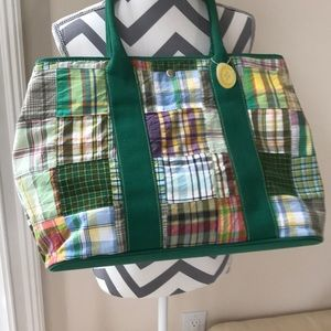 Large madras purse or beach bag . Up to you.